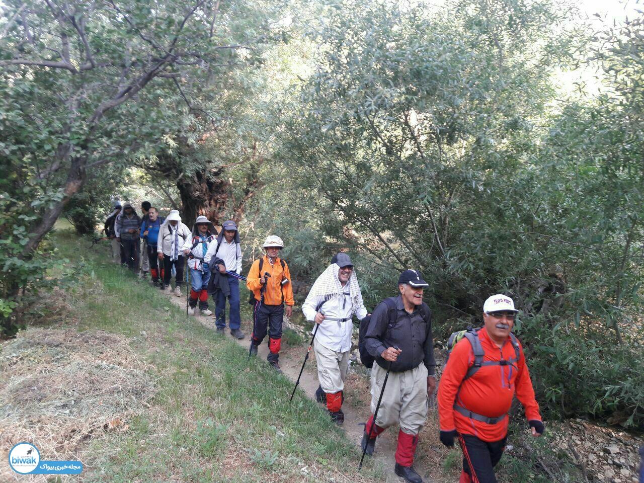 صعود گروه کوهنوردی قله شاه سلیمان